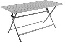 Table en aluminium rectangulaire pliante coloris