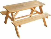 Table en bois pour pique-nique
