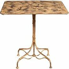 Table en fer forgé avec finition crème antique