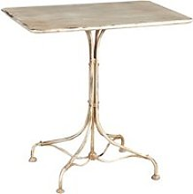 Table en finition blanc antique en fer forgé