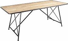 Table en métal et pin