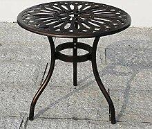Table et chaise de balcon en aluminium moulé