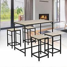 Table et Chaises de Bar, Table Haute avec 4