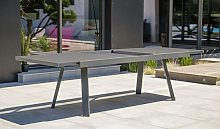 Table extensible alu anthracite 8/12 places -