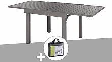 Table extensible carrée alu Piazza 4/8 places