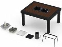 Table extérieur onebois barbecue intégré 4-6