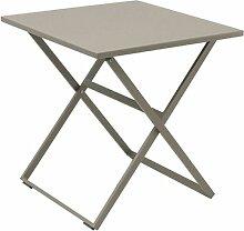 Table exterieur pliante carrée en Aluminium Rosy