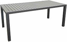 Table extérieure en aluminium plateau à lattes