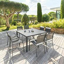 Table fixe carrée Piazza coloris noir graphite