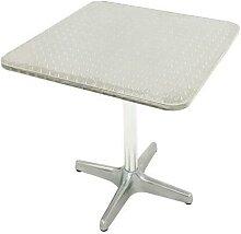 table guéridon carrée 70x70 aluminium