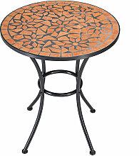 Table guéridon mosaïque et fer forgé ROMALuxus