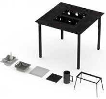 Table haute barbecue garrigue 6-8 personnes -