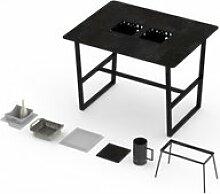 Table haute barbecue intégré cévenne 4-6
