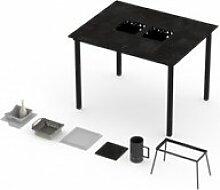 Table haute barbecue intégré garrigue 4-6