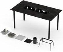 Table haute barbecue intégré garrigue 8-10