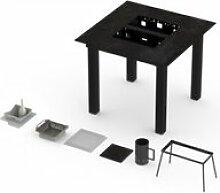 Table haute barbecue intégré garrigue pro 6-8