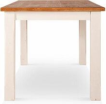 Table Haute Bois Blanc 180x90x81cm - Décorations