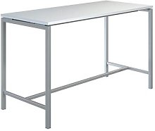 table haute creo structure aluminium plateau blanc
