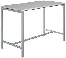 table haute creo structure aluminium plateau gris