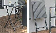 Table haute de jardin pliante en aluminium - Marius
