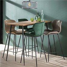 Table haute en bois et métal moderne JARED