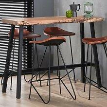 Table haute en bois massif ACAPULCO