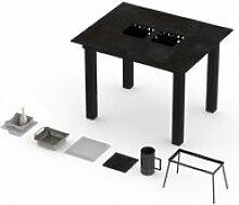 Table haute garrigue pro barbecue intégré 4-6