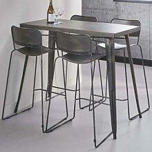 Table haute industrielle en acier CONRAD