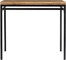 Table haute industrielle en manguier massif et