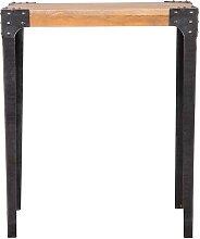 Table haute industrielle rectangulaire en manguier