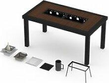 Table haute onebois barbecue intégré 8-10