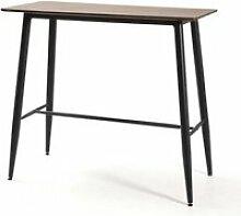 Table haute rectangulaire 120 cm bois/métal -
