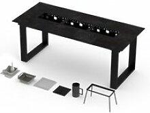 Table haute vulcano barbecue intégré 10-12