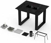 Table haute vulcano barbecue intégré 4-6