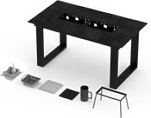 Table haute vulcano barbecue intégré 8-10