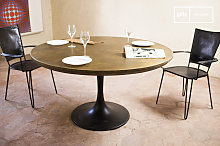 Table industrielle ronde Liverpool