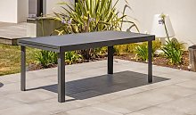 Table jardin à rallonge en aluminium anthracite -