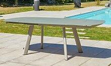 Table jardin avec rallonge rotative 4/8 places -