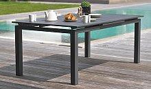 Table jardin extensible 180/240 cm en alu