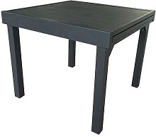 TABLE JARDIN EXTENSIBLE 4/8 PLACES FULL ALU