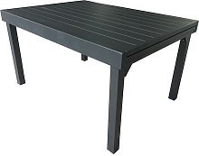 TABLE JARDIN EXTENSIBLE 6/10 PLACES FULL ALU