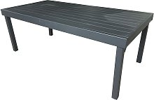 TABLE JARDIN EXTENSIBLE 8/12 PLACES FULL ALU