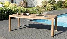 Table jardin rectangulaire en teck 220 x 100 cm -