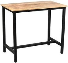 Table mange-debout acier noir/bois massif -