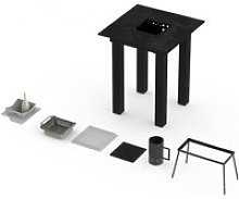 Table mange-debout barbecue garrigue pro 2-3