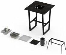 Table mange-debout barbecue intégré cévenne 2-3