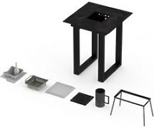 Table mange-debout barbecue vulcano 2-3 personnes