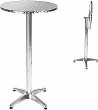 Table Mange Debout en Aluminium pliable Ø 60 cm -