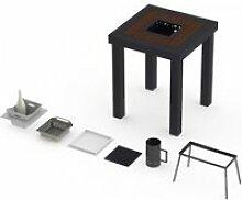 Table mange-debout onebois barbecue intégré 2-3