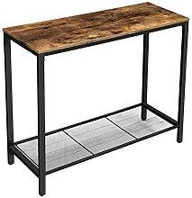 Table marron foncé avec étagère Vasagle